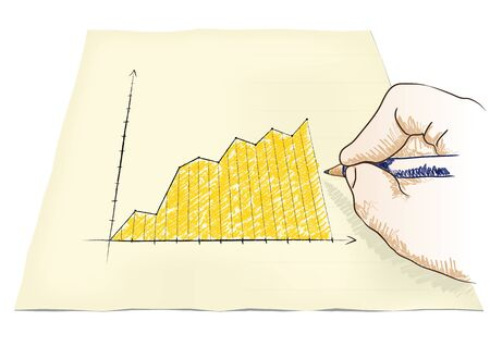 hand draws a graph Stock Vector - 20932535
