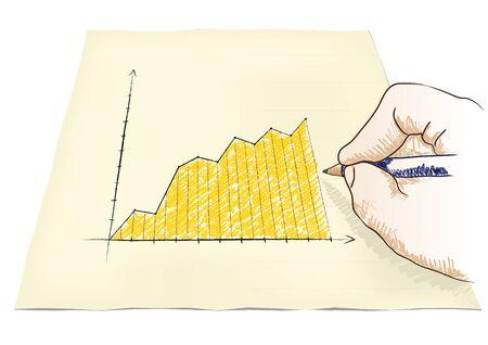 hand draws a graph Stock Vector - 20932535