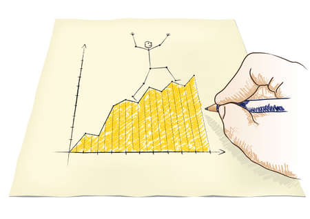 hand draws a graph Stock Vector - 20932536