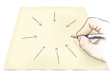 encircle: hand draws center