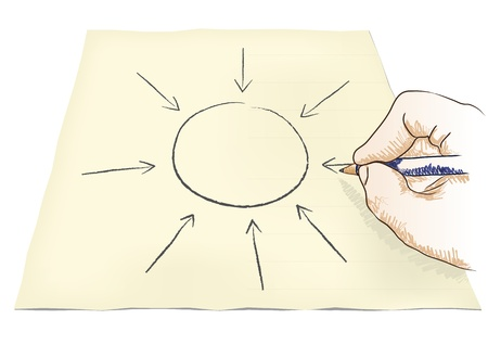 intent: hand draws center