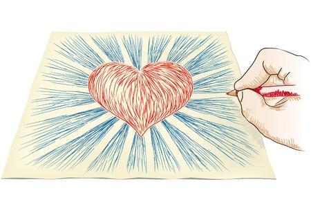 sacre coeur: la main attire coeur