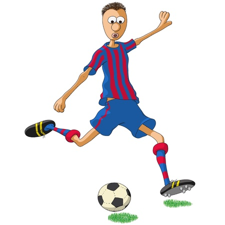 barcelona spain: Barcelona soccer player Illustration