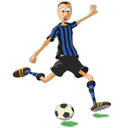 inter: Inter Milan soccer player Illustration