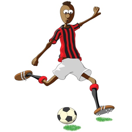 football shoes: AC Milan soccer player