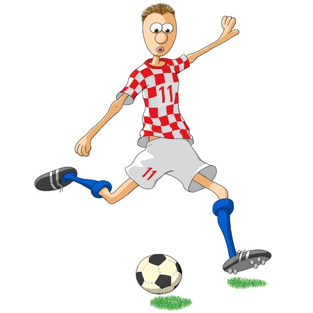 football shoe: Croatia soccer player