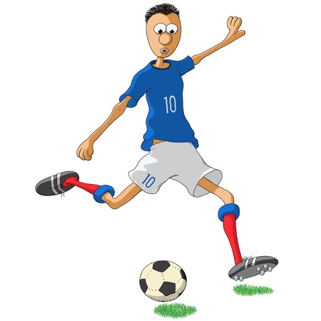 football jersey: France soccer player Illustration