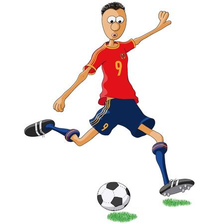 Spain soccer player Vector