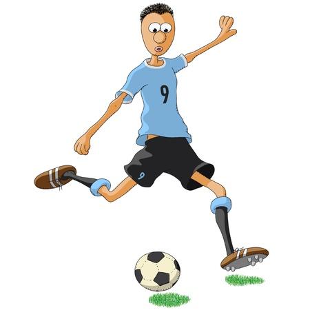 Uruguayan soccer player Illustration
