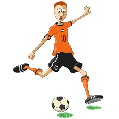 athlete cartoon: Netherlands soccer player