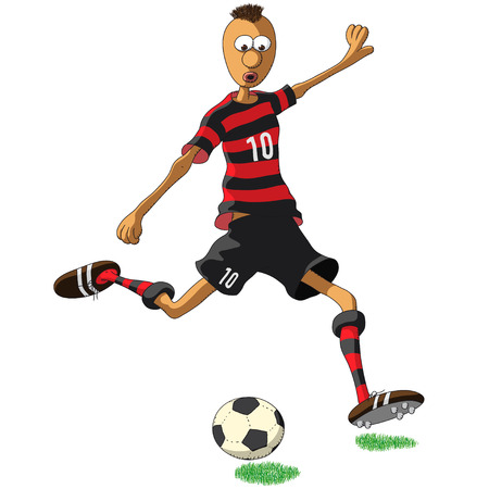 flamengo soccer player Stock Illustratie