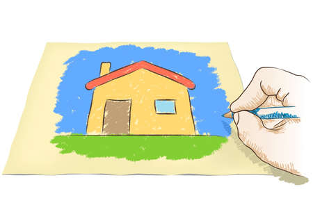 hand drawing house Stock Vector - 22731543