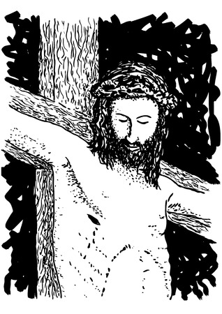 Jesús crucificado Ilustración de vector