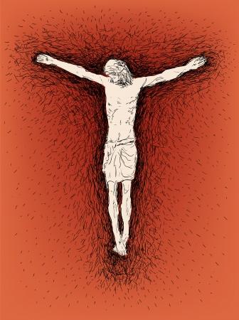 kruzifix: Jesus gekreuzigt Illustration