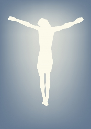 jesus praying: jesus crucified