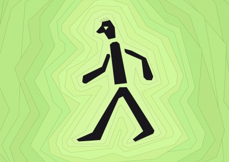 proceed: person walking Illustration