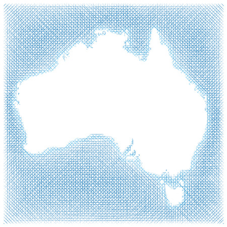 demarcation: Map of Australia