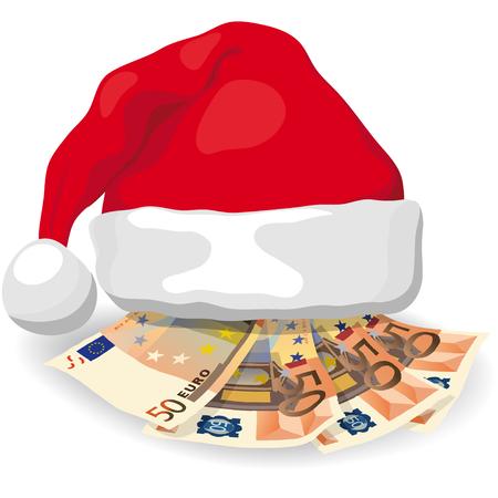 gastos: Los gastos de Navidad Vectores