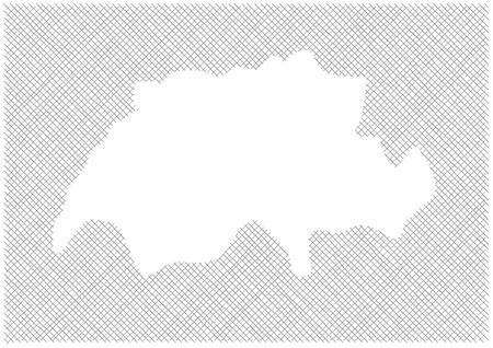 dashed: map of Switzerland