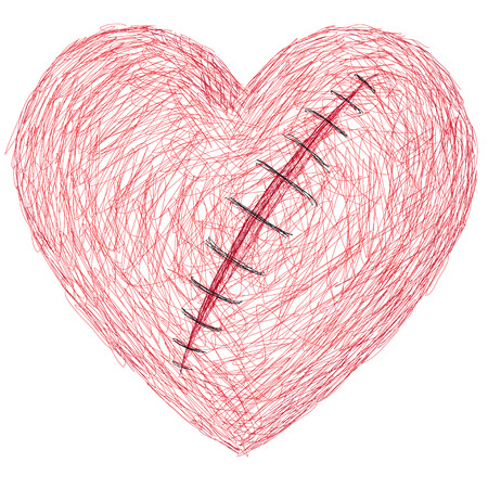 laceration: the wounded heart Illustration