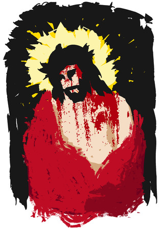 jesus christ crown of thorns: ecce homo Illustration