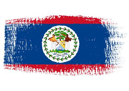 belize: brushstroke of Belize flag