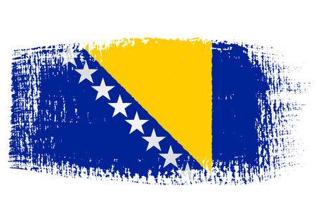 streaked: brushstroke of Bosnia and Herzegovina flag Illustration