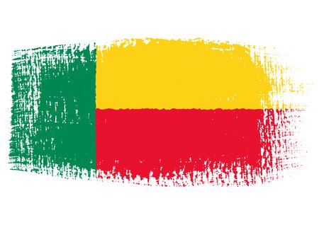 brushstroke of Benin flag Illustration