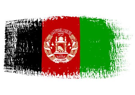 streaked: brushstroke of Afghanistan flag Illustration