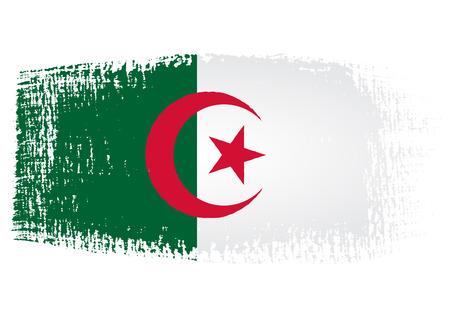 streaked: brushstroke of Algeria flag