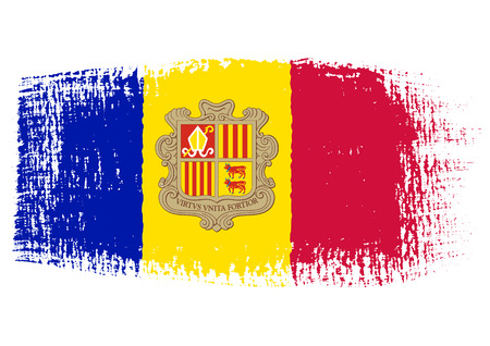 brushstroke: brushstroke of Andorra flag
