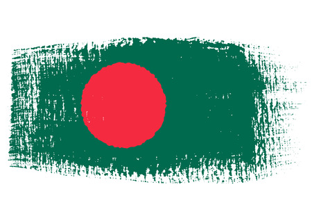 brushstroke of Bangladesh flag