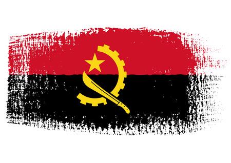 angola: brushstroke of Angola flag
