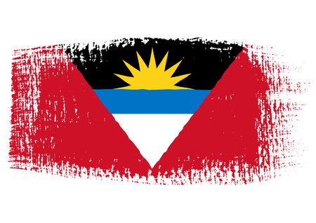 antigua flag: brushstroke of Antigua and Barbuda flag
