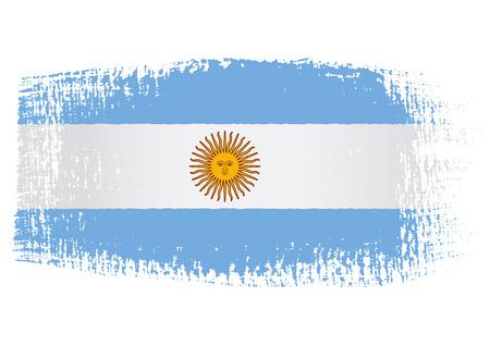アルゼンチンの旗のブラシ ストローク