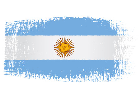 argentina flag: brushstroke of Argentina flag