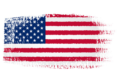 us grunge flag: brushstroke of United States flag