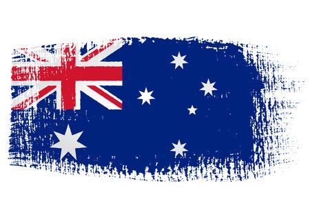 호주 국기의 붓 자국 일러스트