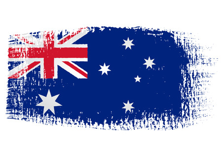 brushstroke of Australia flag