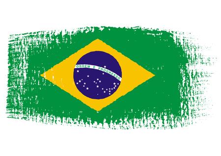 brazilian flag: brushstroke of Brazil flag Illustration