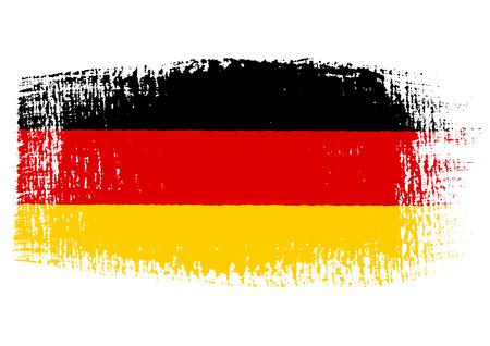 penseelstreek van Duitsland vlag Stock Illustratie
