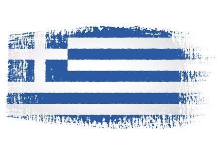ギリシャの国旗のブラシ ストローク