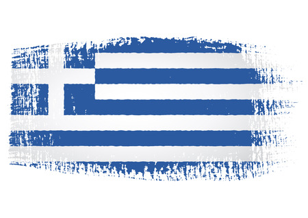 greece flag: brushstroke of Greece flag