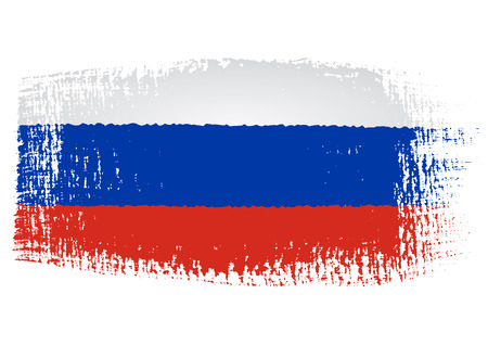 russia flag: brushstroke of Russia flag