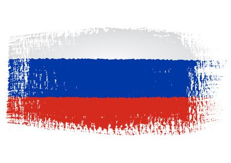 penseelstreek van de vlag van Rusland