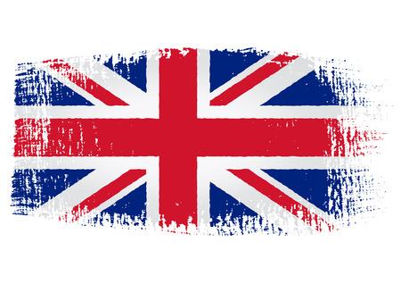 bandera inglesa: pincelada de bandera de Reino Unido