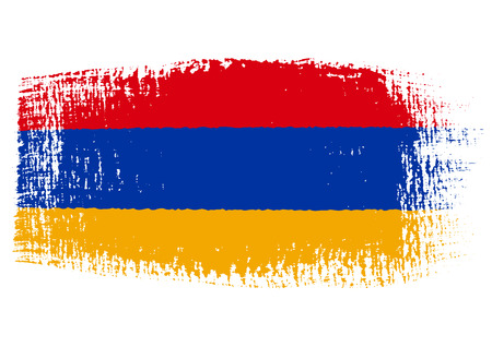 paint brush stroke: brushstroke of Armenia flag