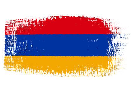 streaked: brushstroke of Armenia flag