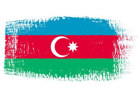 azerbaijan: brushstroke of Azerbaijan flag Illustration
