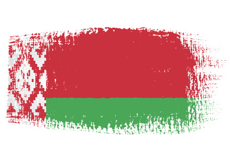 belarus: brushstroke of Belarus flag